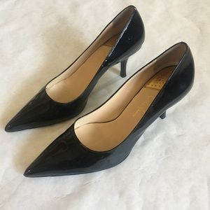 Cole Haan Nike Air Black Leather Heels